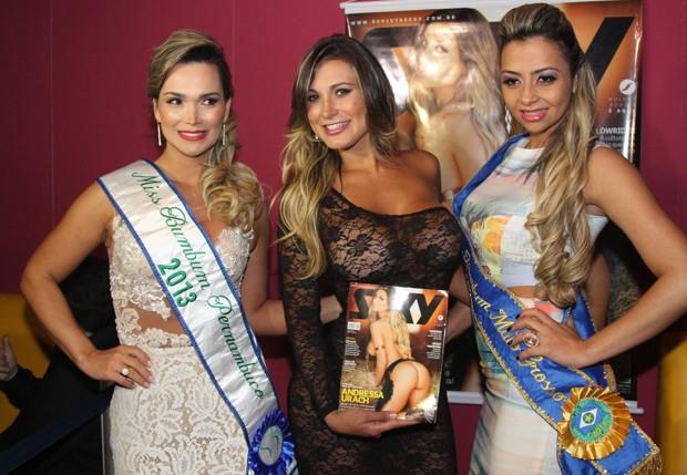 Silvia Waszak, Andressa Urach e Cris Guima (Foto: Thiago Duran/AgNews)