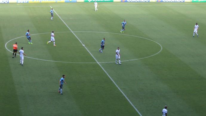 Grêmio time Barrios meio-campo (Foto: Eduardo Moura/GloboEsporte.com)
