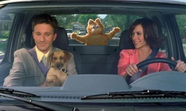 """Jon e Jennifer Love-Hewit estão em """"Garfield - O Filme"""" ( (Foto: Divulgação / Reprodução)"""