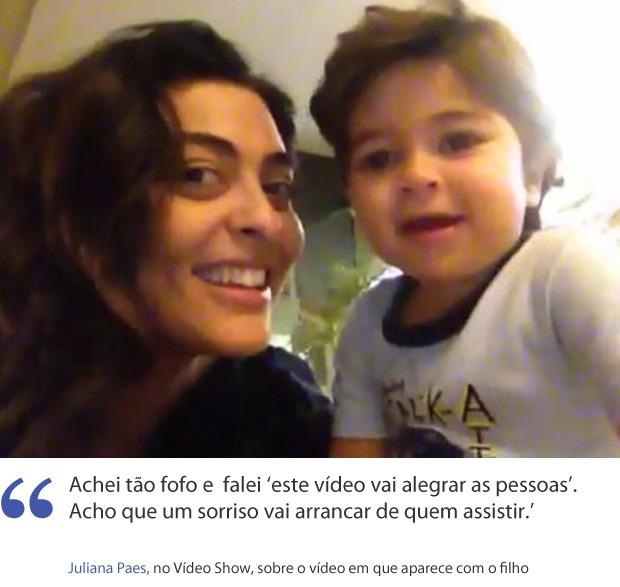 Frases Achei Tão Fofo Disse Juliana Paes Sobre Vídeo Com O Filho