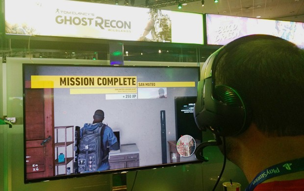 'Ghost Recon Wildlands' promete um mundo aberto que pode ser jogado cooperativamente por até 4 jogadores (Foto: Bruno Araujo/G1)