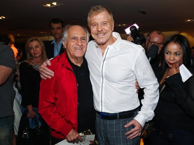 Ary Fontoura e Miguel Falabella em estreia de musical em São Paulo (Foto: Manuela Scarpa e Marcos Ribas/ Foto Rio News)
