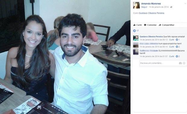 Amanda Maronez, Gustavo Oliveira Pereira, casal, namorados, mortos, Tristeza, Porto Alegre (Foto: Reprodução/Facebook)