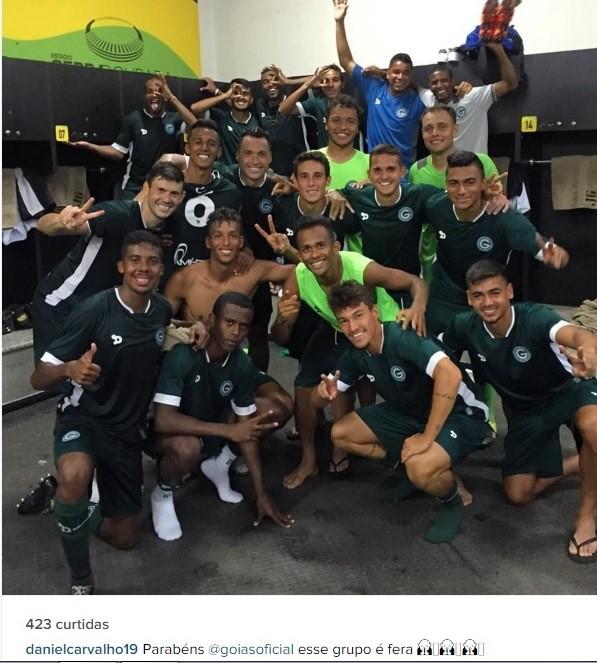 Daniel Carvalho celebra vitória esmeraldina (Foto: Reprodução / Instagram)