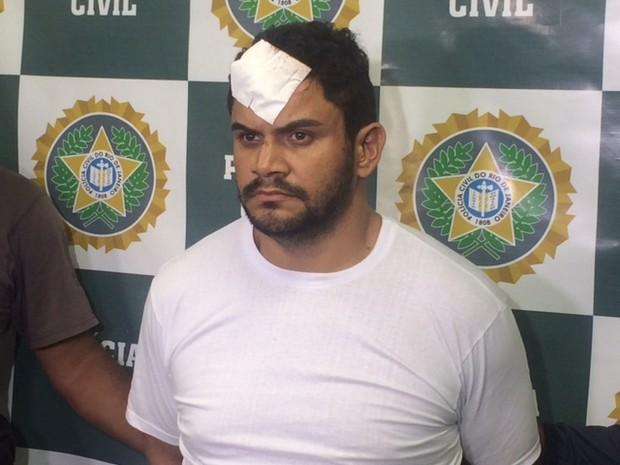Miltinho da van foi preso (Foto: Cristina Boeckel/ G1)