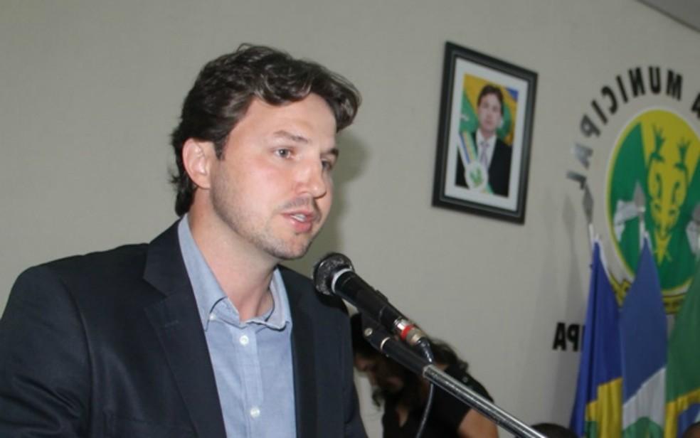 Alexandre Russi, prefeito de São Pedro da Cipa, é um ganhadores da Mega-Sena (Foto: Divulgação/Câmara de São Pedro da Cipa-MT)