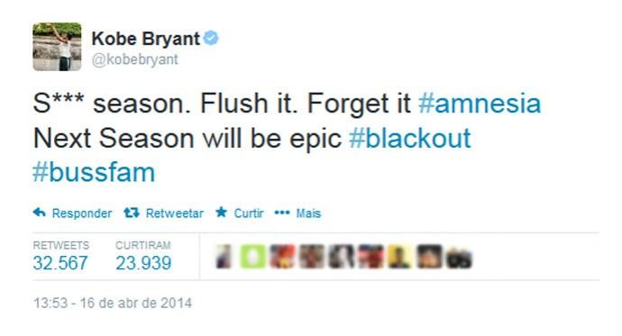 Kobe Bryant tweet temporada Lakers (Foto: Reprodução / Twitter)