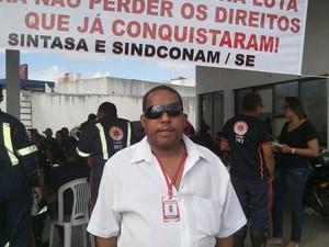 'Fomos surpreendidos com essa decisão do TCE', diz Adailton dos Santos (Foto: Tássio Andrade/G1)