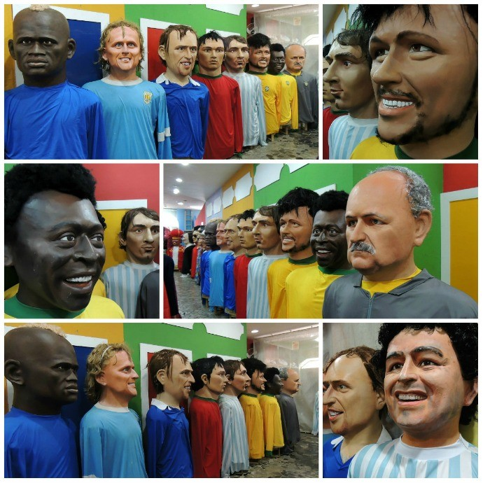 bonecos gigantes copa do mundo (Foto: Elton de Castro)