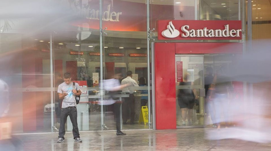 Agência do Banco Santander (Foto: Divulgação)