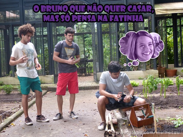 Tadinho dele, né gnt? Tá na maior bad por causa da Fatinha (Foto: Malhação/ TV Globo)