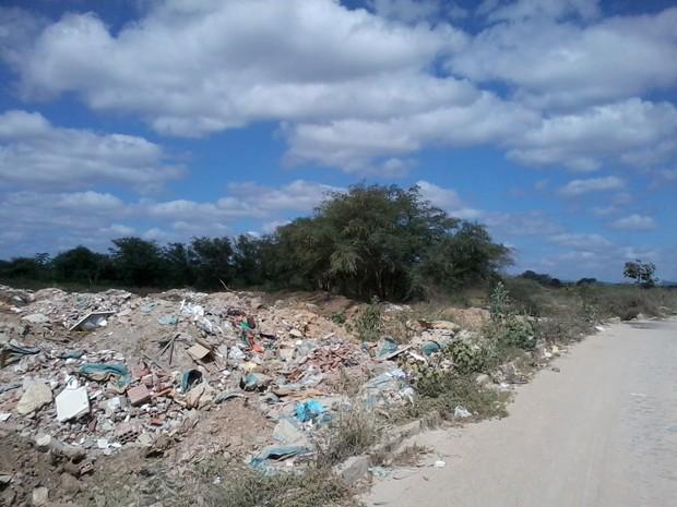 Leitor também diz que veículo e população estariam jogando lixo em área verde. (Foto: Internauta/ VC no G1)