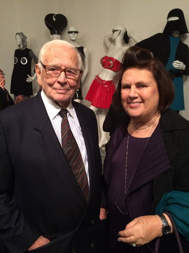 Suzy Menkes with Pierre Cardin  (Foto: Suzy Menkes)