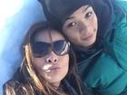 Carol Nakamura posta foto com o filho durante viagem ao Chile