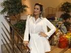 Geisy Arruda usa look de R$ 250 em festa: 'Não sou rica'