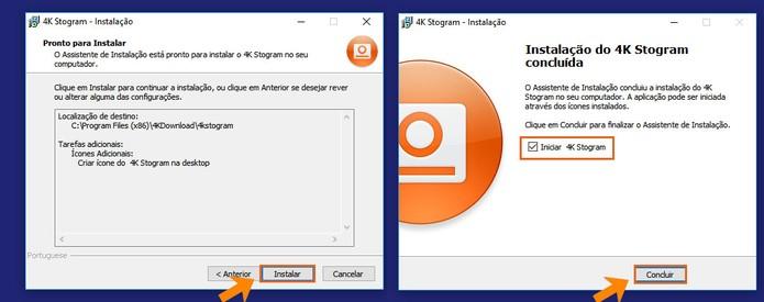 Conclua a instalação do 4K Stogram no PC (Foto: Reprodução/Barbara Mannara)