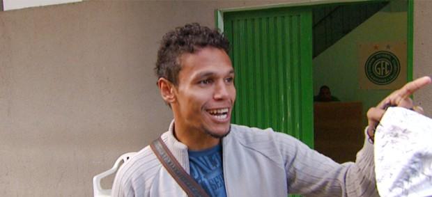 Fabinho, atacante do Guarani (Foto: Reprodução / EPTV)