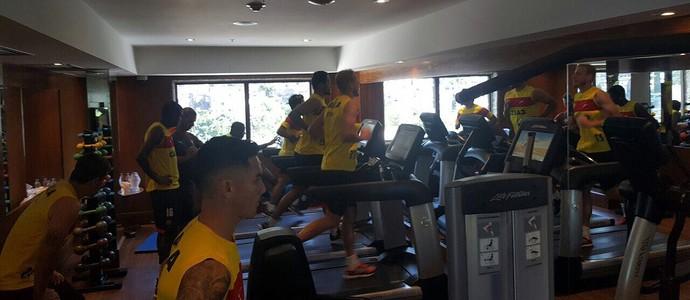 Vitória; treino; academia (Foto: Moysés Suzart/EC Vitória/Divulgação)