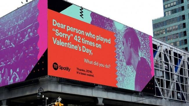 Em 2016, teve gente que ouviu 'Sorry' 42 vezes no Dia dos Namorados (Foto: Divulgao/Spotify)