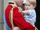 Príncipe George rouba as atenções em evento real
