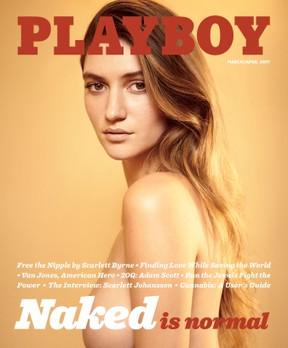 Capa da edição de março/abril da Playboy americana (Foto: Reuters)