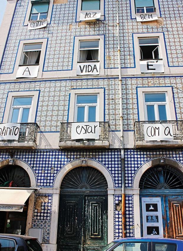 Azulejos na fachada: herança dos árabes, o acabamento dominou a paisagem urbanística de Lisboa na era do Marquês de Pombal, no século 18 (Foto: Cláudia Pixu)