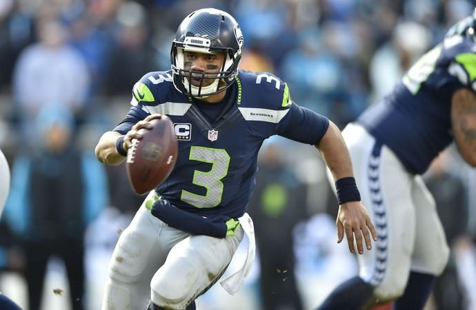 Russell Wilson Seattle Seahawks Carolina Panthers NFL (Foto: Reuters / John David Mercer-USA TODAY Sports)