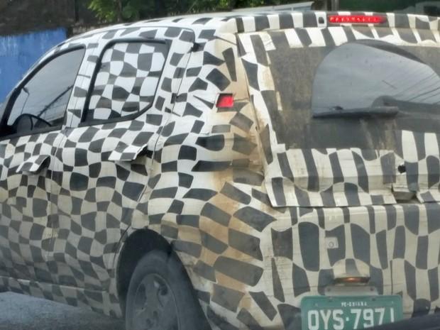 Fiat Mobi, em testes no Recife (Foto: Danielle Tavares / VC no AutoEsporte)
