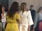 Ivete Sangalo encontra Beyoncé nos bastidores do show no Rock in Rio