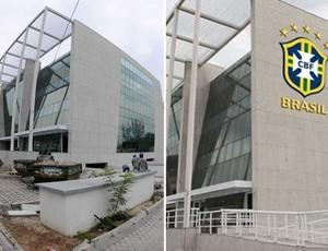 fachada cbf obras prédio novo (Foto: Montagem/André Durão/CBF)