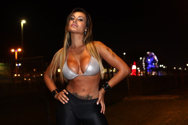 Andressa Urach no Rock in Rio (Foto: Iwi Onodera/ EGO)