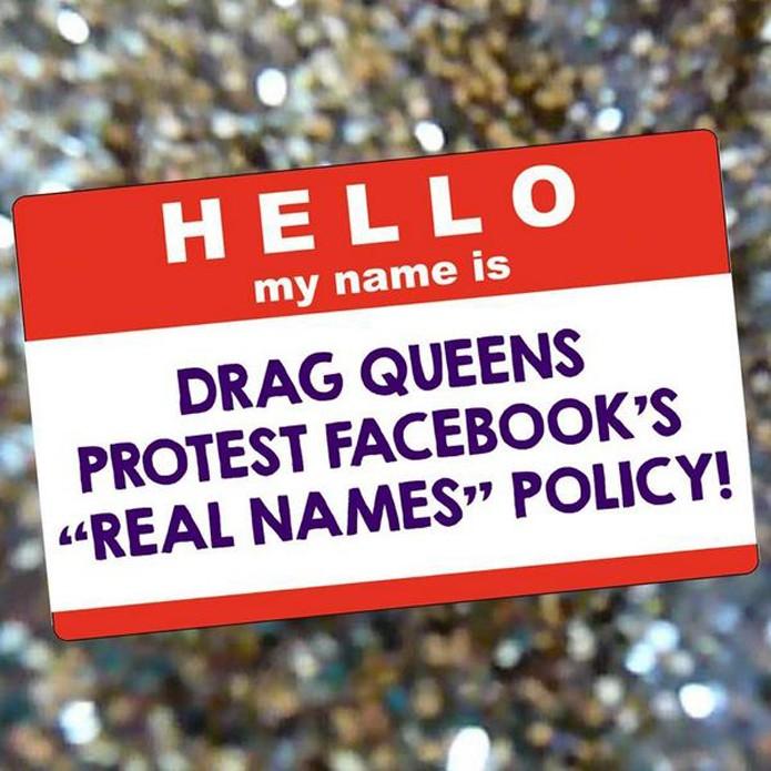 Drag Queens protestam política do Facebook que exige nomes de batismo (foto: Reprodução/Twitter)