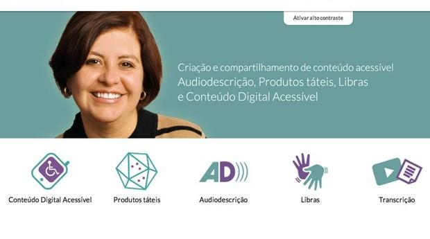 O site do Critco foi programado com acessibilidade para pessoas com deficiência auditiva e visual (Foto: Divulgação)