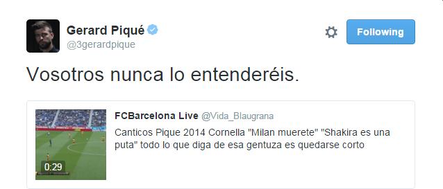 BLOG: Piqué denuncia xingamentos contra Shakira e filho e cita frase do Espanyol