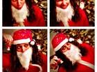 Débora Nascimento se veste de Papai Noel