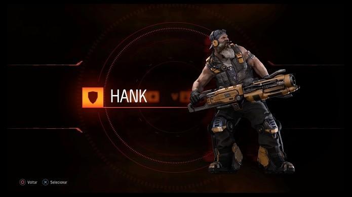 Hank é um dos personagens iniciais do game (Foto: Reprodução/Victor Teixeira)