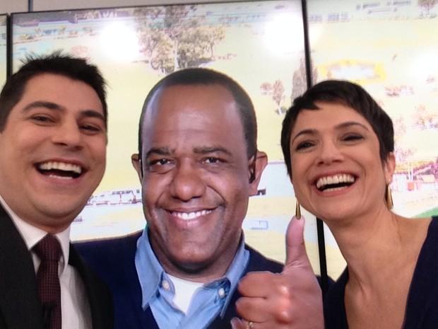 Evaristo, Abel e Sandra (Foto: Arquivo Pessoal)