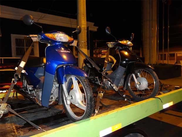 Motos foram apreendidas nos bairros Jardim Morada do Sol e São Conrado (Foto: Divulgação/ Guarda Municipal de Indaiatuba)