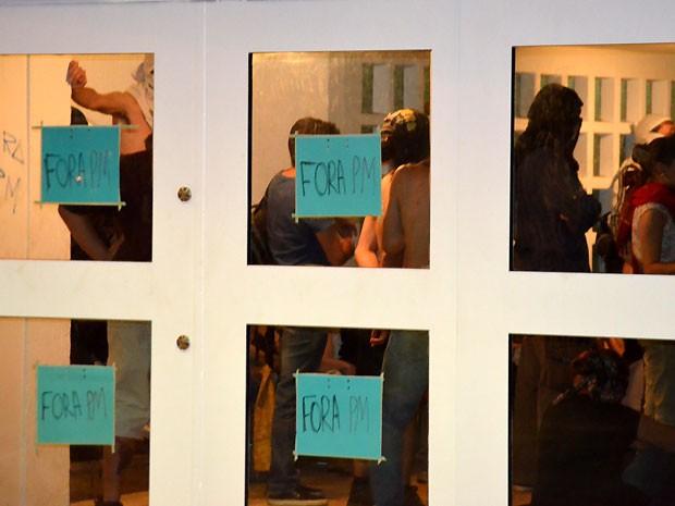 Estudantes ocupam reitoria da Unicamp, em Campinas (Foto: G1 Campinas)