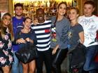 Ivete Sangalo, Anitta, Preta Gil e Carolina Dieckmann jantam no Rio