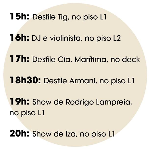 Confira a programação completa do primeiro dia de festa que acontecerá no VillageMall (Foto: Divulgação )