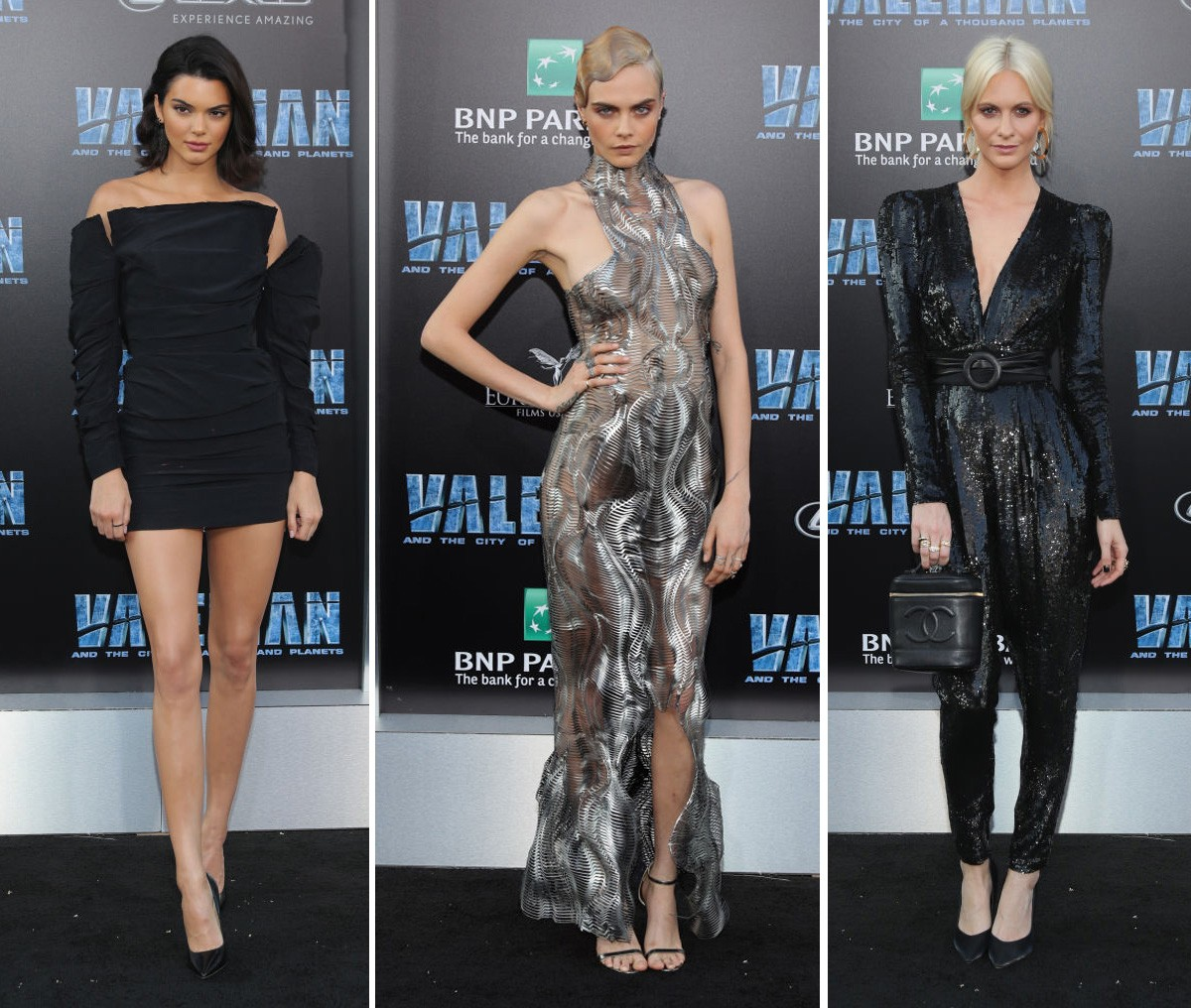 Kendall Jenner, Cara Delevingne e Poppy Delevingne (Foto: Getty Images)
