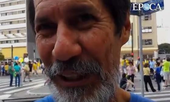 Eduardo Jorge no protesto na Avenida Paulista (Foto: Marcelo Min/Fotogarrafa/ÉPOCA)