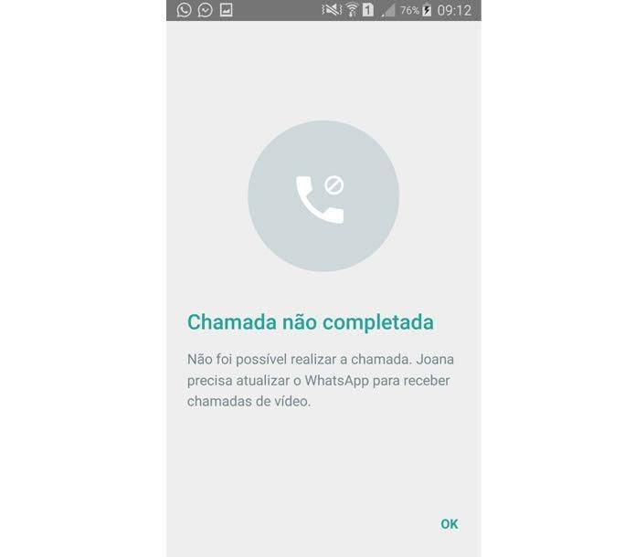 Mensagem de erro para quem não possui a versão beta do aplicativo (Foto: Reprodução/ Aline Batista)