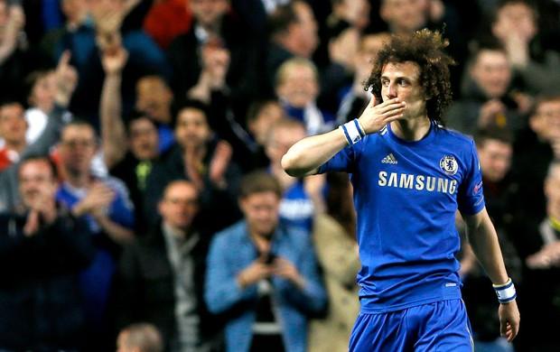 David Luiz gol Chelsea Basel (Foto: AP)