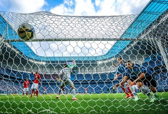 Grêmio Gre-Nal Arena Gol Alan Ruiz Internacional  (Foto: Jefferson Bernardes/ Agência Preview)