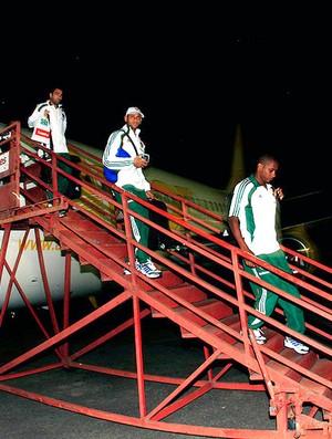 desembarque do Fluminense na Venezuela (Foto: Nelson Perez / Fluminense. F.C.)