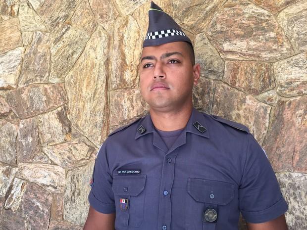 Roodney Gregório é soldado efetivo na PM (Foto: Stephanie Fonseca/G1)