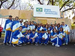 Os Jogos Escolares da Juventude 2014 tiveram a abertura oficial em Lodrina (PR) no estádio Moringão (Foto: Marcus Mesquita/Seduc-TO)