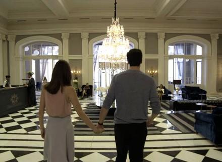 Eric e Luíza comemoram o fim da reforma do Carioca Palace